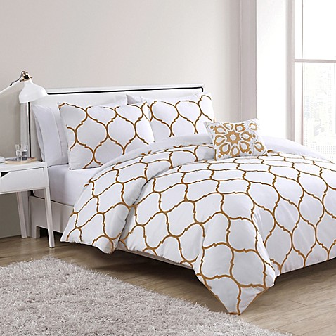 Vcny Ogee 4 Piece Comforter Set Bed Bath Amp Beyond