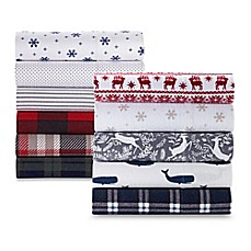 image of The Seasons Collection® Heavyweight Flannel Pattern Sheet Set