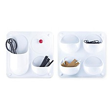 image of Modular Plastic Wall Organizer Collection in White