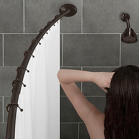 Image Of Alumia™ Single Curved Shower Rod