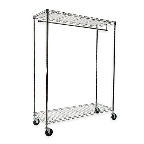 extra wide heavy duty garment rack in chrome bed bath beyond. Black Bedroom Furniture Sets. Home Design Ideas