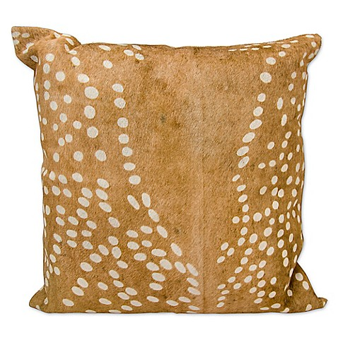 Faux Deer Hide Pillows : Mina Victory Axis Deer Print Square Throw Pillow - Bed Bath & Beyond