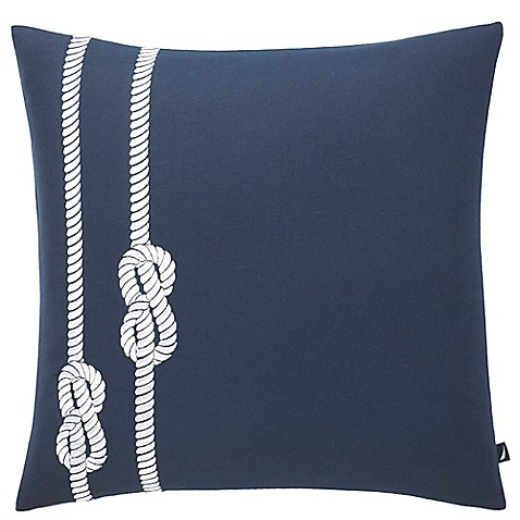 Nautica Decorative Pillows Navy : Nautica Rope Square Throw Pillow in Navy - Bed Bath & Beyond
