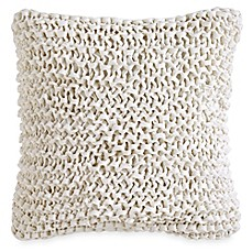 image of dkny city pleat ribbon square throw pillow in white