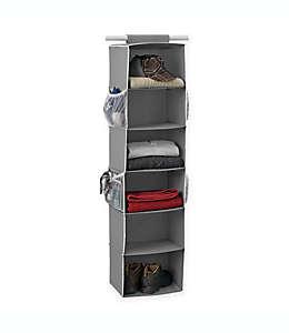 Organizador para clóset Studio 3B™, con 6 compartimentos en gris