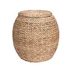 Image Of Household Essentials® Large Water Hyacinth Wicker Storage Basket