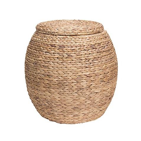 Household Essentialsu0026reg; Large Water Hyacinth Wicker Storage Basket  sc 1 st  Bed Bath u0026 Beyond & Household Essentials® Large Water Hyacinth Wicker Storage Basket ...