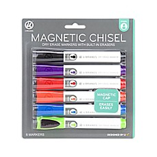image of Magnetic Dry Erase Marker with Eraser 6ct