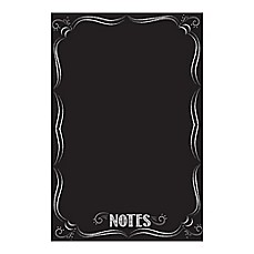 image of WallPops!® Dry-Erase Giant Bistro-Style Notes Decal in Black with Dry-Erase Marker