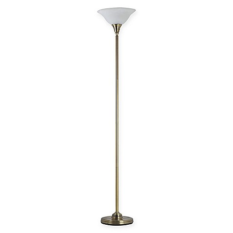 Adessor julian torchiere floor lamp with alabaster glass for Alabaster torchiere floor lamp