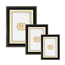 image of Eccolo™ Gold-Bordered Onlay Frame in Black