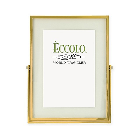 Eccolo 4-Inch x 6-Inch Gold Floating Glass Frame - Bed Bath & Beyond