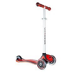image of Globber Scooters 3-Wheel Adjustable Scooter in Red