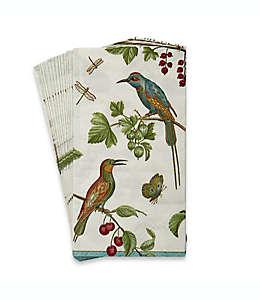 Toallas desechables Caspari® Jeweled™, con diseño de pájaros, 16 piezas