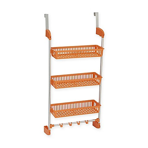 Household Essentials®  3 Basket Over-the-Door Organizer in Orange