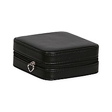 image of Mele & Co. Dana Faux Leather Travel Jewelry Case in Black