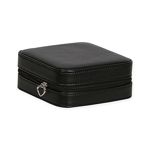 mele co dana faux leather travel jewelry case in black