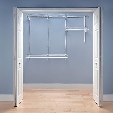 ClosetMaidu0026reg; ShelfTracku0026reg; 4 Foot To 6 Foot Wire Closet Organizer ...