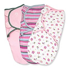 image of Summer Infant® SwaddleMe® 3-Pack Small/Medium Original Swaddle Girly Bug Swaddles in Pink