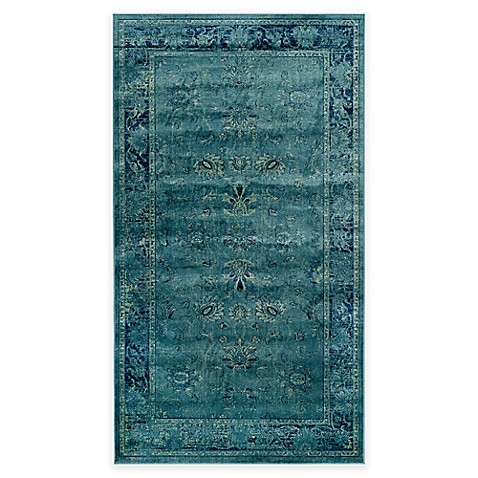 mainly wool watercolor handmade from ivory use safavieh vintage that turquoise for indoor a dye rug x is rugs home made dip
