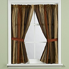 image of manor hill sierra copper bath window curtain panel pair