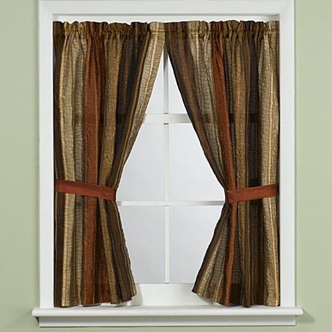 Manor Hillu0026reg; Sierra Copper Bathroom Window Curtain Panel Pair