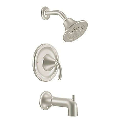 Buy Moen Icon PosiTemp 1 Handle Wall Mount Tub And Shower Faucet In Brushed