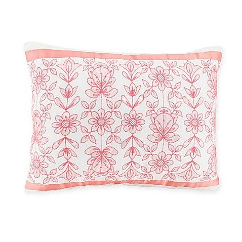 Jessica Simpson Ellie Oblong Throw Pillow in Coral - Bed Bath & Beyond