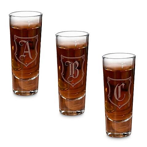 lillian rose monogram shot glasses set of 4 bed bath beyond
