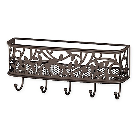 Vine mail and key rack in bronze bed bath beyond - Mail holder and key rack ...