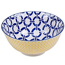 image of Certified International Chelsea Mix and Match Blue Chain 6.25-Inch Bowl