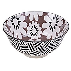 image of Certified International Chelsea Mix and Match Grey Floral 6.25-Inch Bowl