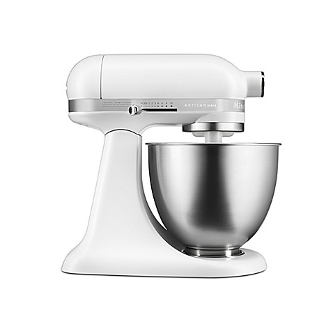Buy kitchenaid artisan mini 3 5 qt mixer in matte white from bed bath beyond - Kitchenaid artisan qt stand mixer attachments ...