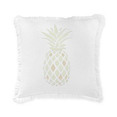 image of southern tide southern hospitality pineapple square throw pillow in white