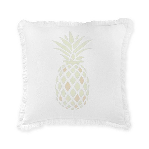 Southern tide southern hospitality pineapple square throw for Southern tide bedding