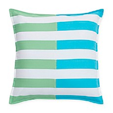 image of southern tide skipjack chino stripe square throw pillow in island blue