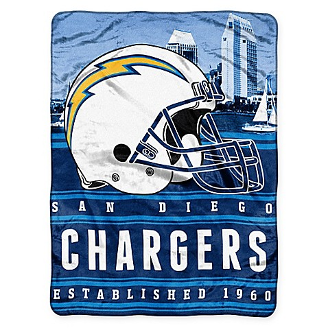 Nfl San Diego Chargers Silk Touch Throw Blanket By The