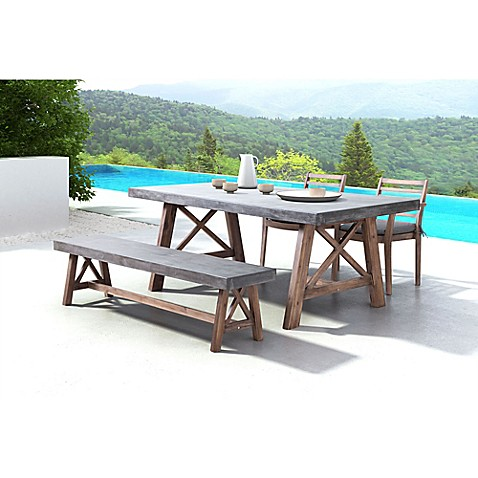Zuoreg Ford Dining Table In Cement Natural