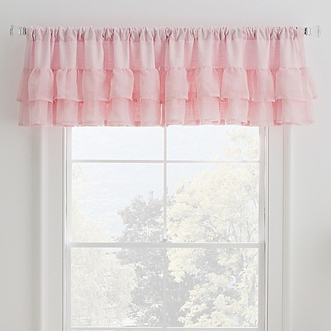 Malta Ruffled Window Valance In Pink Bed Bath Beyond