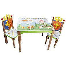 image of Teamson Fantasy Fields Enchanted Woodland 3-Piece Table and Chairs Set