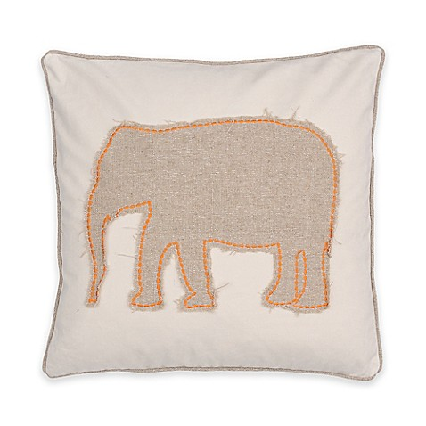 Elephant Throw Pillow Bed Bath And Beyond : Levtex Home Windsong Elephant Square Throw Pillow - Bed Bath & Beyond