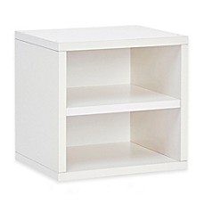 image of Way Basics Tool-Free Assembly Stackable Connect Shelf Storage Cube in White