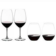 image of Riedel® Vinum XL Red Wine Glass and O Syrah/Shira Stemless Glass Buy 2 Get 4 Value Set