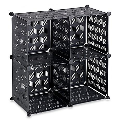 modular cube grid bed bath beyond. Black Bedroom Furniture Sets. Home Design Ideas