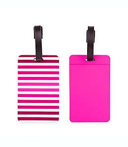 Set de etiquetas para equipaje Latitude 40°N®, en rosa, 2 piezas