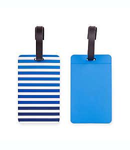 Set de etiquetas para equipaje Latitude 40°N®, en azul, 2 piezas