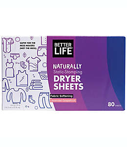 Hojas para secadora Better Life® Naturally Static-Stomping
