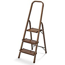 image of Polder® 3-Step Ultralight Step Stool in Walnut