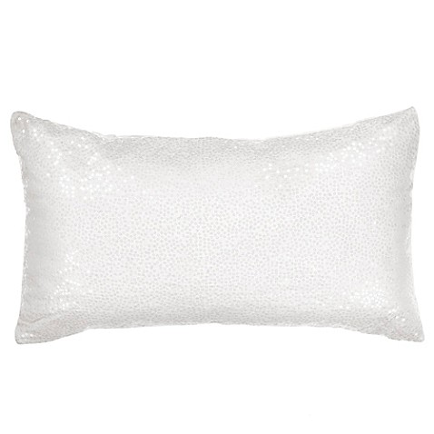 Buy Bed Inc. Antoinette Oblong Throw Pillow in White from Bed Bath & Beyond