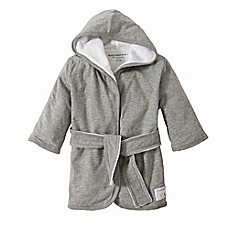 image of Burt's Bees Baby® Organic Cotton Knit Terry Robe in Grey